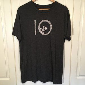 tentree graphic t-shirt dark grey men's size XL
